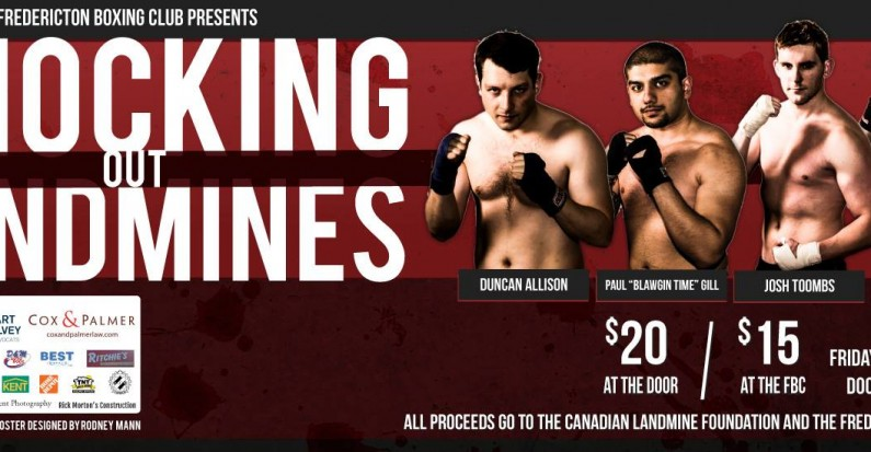 Knocking Out Landmines: Charity Event, Mar. 27th