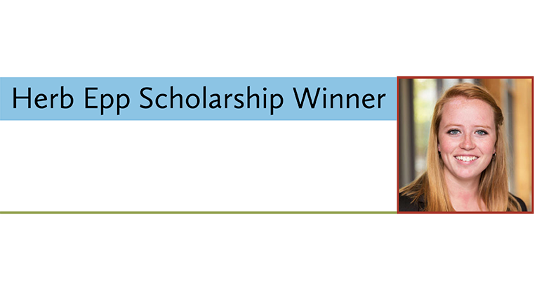 Karen Van Staveren Receives 2018 Herb Epp Scholarship