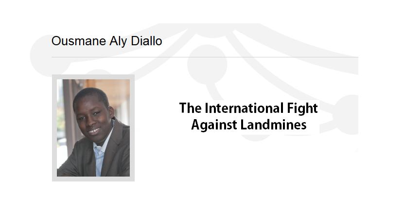 Ousmane Aly Diallo on Landmines